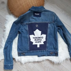 Toronto Maple Leafs upcycled Jean denim jacket